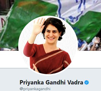 #JustIn   Priyanka Gandhi Vadra makes her Twitter debut.   @priyankagandhi    #PriyankaGandhiVadra