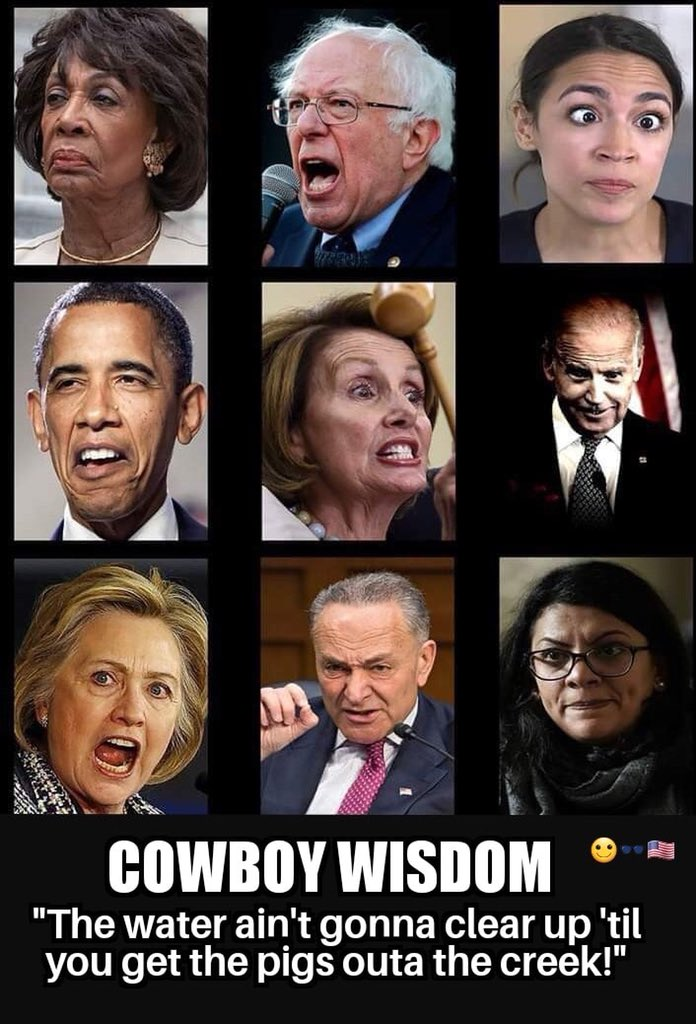 Every facet of our government has been compromised.  House, Senate, Presidency  Six of the worst are pictured below. How our great country could end up with the likes of these in ANY public office is a disgrace & an embarrassment.  Thank God for @realDonaldTrump🙏  #DrainTheSwamp