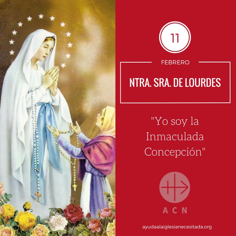 Ayuda a la Iglesia Necesitada's photo on Virgen de Lourdes