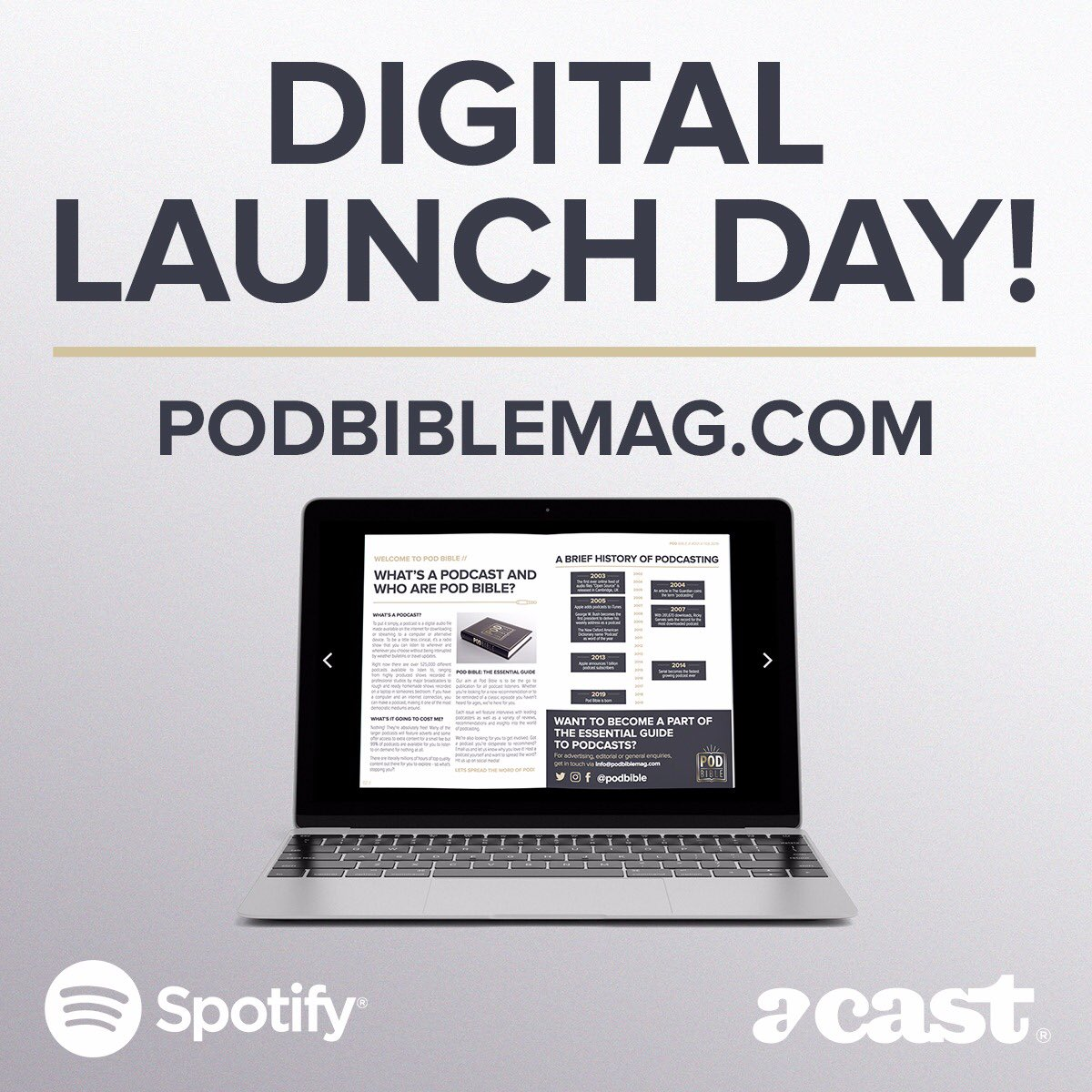 It's here! Read issue #001 NOW at http://podbiblemag.com #podbible #podcast #podcasting #podcastlife #podnation