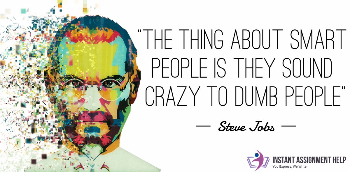"""#IAHSayings  """"The thing about smart people is they sound crazy to dumb  people"""" ~ Steve Jobs  #Motivation #Inspiration #Quotes #QOTD #LifeQuotes #InspiringQuotes #FitnessQuotes #SteveJobs #SteveJobsQuotes #FamousSayings #QuoteOfTheDay #MotivationalMonday #MotivationMonday"""