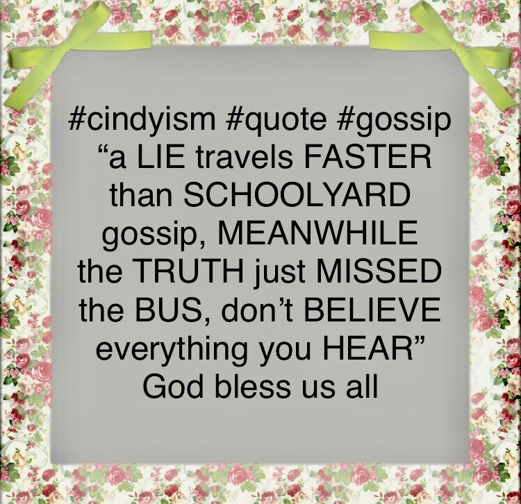 Thepawningplanners2 On Twitter Cindyism Gossip Truth Lies