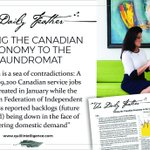 Image for the Tweet beginning: Taking the Canadian Economy to