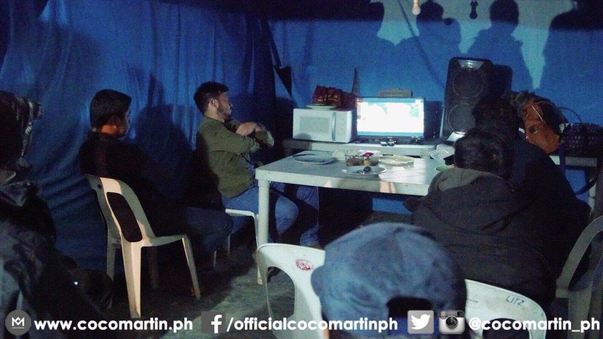 RT @cocomartin_ph: Break muna sa taping! Sabay sabay tayong manood ng FPJs Ang Probinsyano! #FPJAP3Pinuno https://t.co/EY6QTzb9MQ