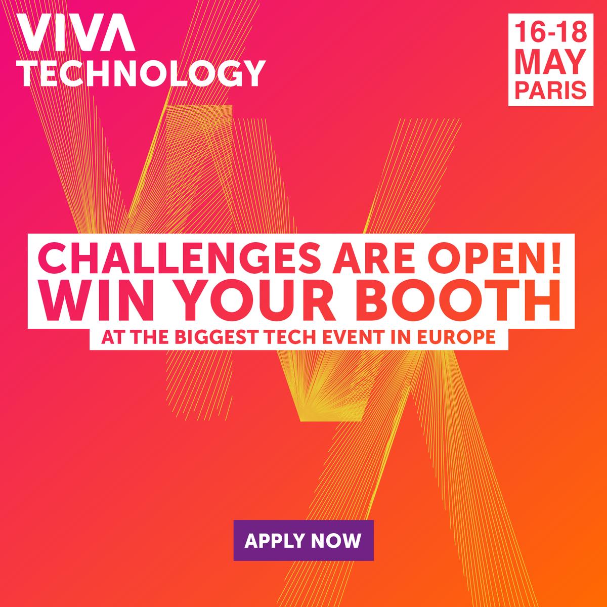 Les Challenges #VivaTech ferment le 15 février. #Startups, tentez de gagner un stand et de collaborer avec des grands groupes…