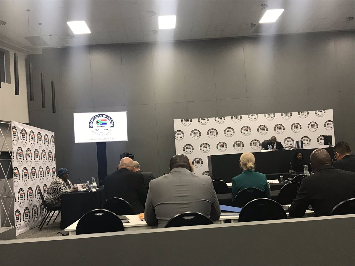 #StateCaptureInquiry Vytjie Mentor is back on the stand for cross examination.