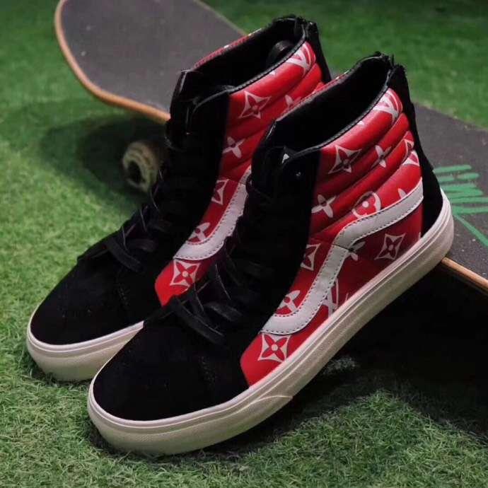 57cc671df3be 满意保证,品质保证  supreme  lv  vans  men s  women s  shoes  sneakers  red   blackpic.twitter.com murRDEwIMU