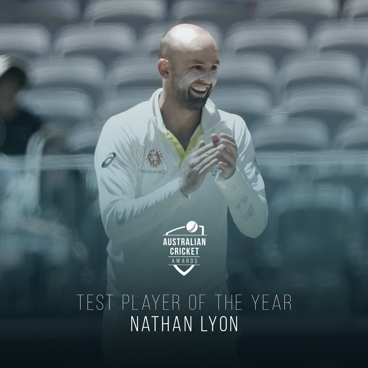 The  doing  things.  Nathan Lyon is the 2018 Test Player of the Year #AusCricketAwards <br>http://pic.twitter.com/nQO4tZl629