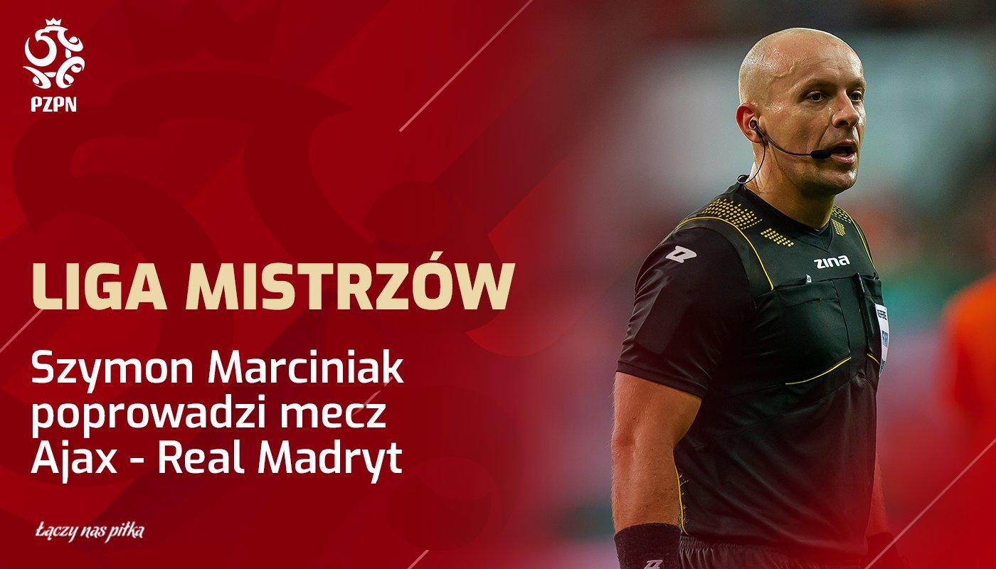 Poland National Football Team: Szymon Marciniak poprowadzi mecz #UCL: @AFCAjax 🆚 @realmadrid  📅 13.02 (środa)...