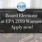 Image for the Tweet beginning: EPA Board Election applications are