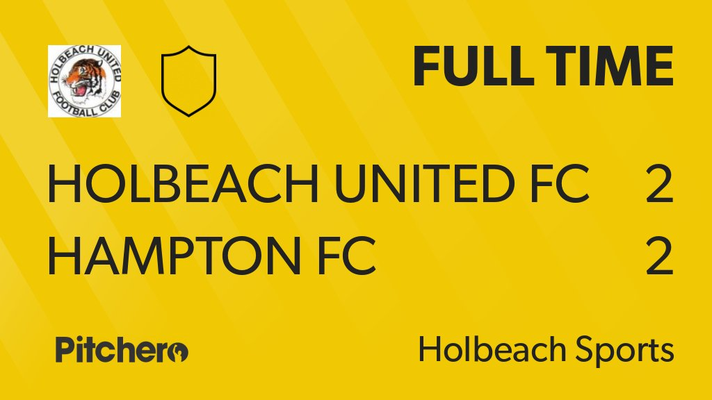 FULL TIME: Holbeach United FC 2 - 2 Hampton FC #HOLHAM #Pitchero http://www.pitchero.com/clubs/holbeachunitedfc/teams/143100/match-centre/0-4295033?utm_campaign=score_update&utm_medium=post&utm_source=twitter&utm_content=FT …