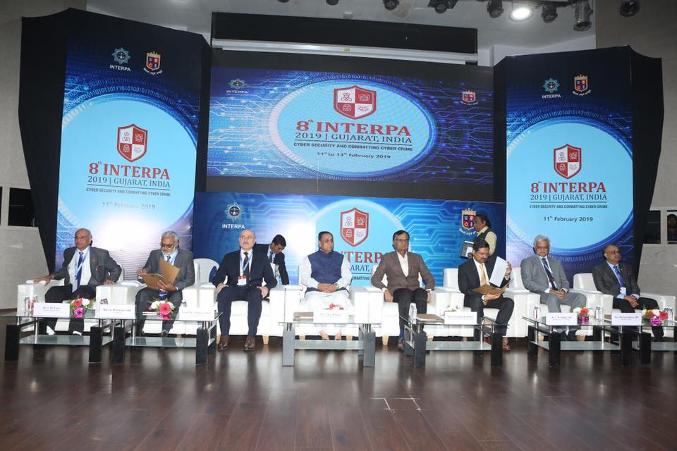Gujarat CM Shri @vijayrupanibjp today inaugurated 8th Annual Conference of the International Association of Police Academies (INTERPA) organized on the theme of 'Cyber Security & Combating Cyber Crime' at Gujarat Forensic Sciences University in Gandhinagar