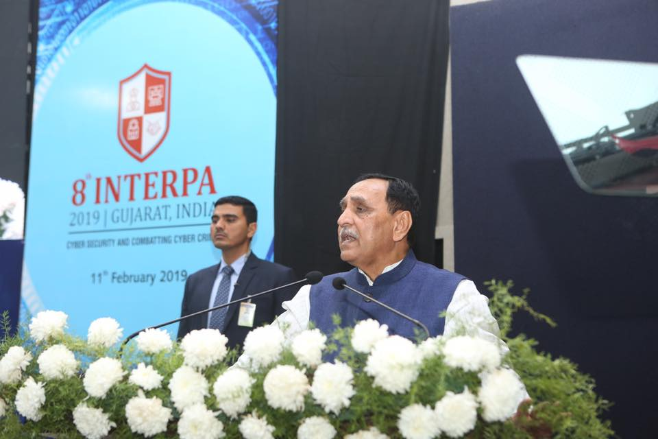 The landmark INTERPA conference with participation of over 100 Sr.Police Officers from 56 countries will provide a new dimension to understand cyber-crime, a serious challenge to personal & national security in this digital era, in more comprehensive way : CM Shri @vijayrupanibjp