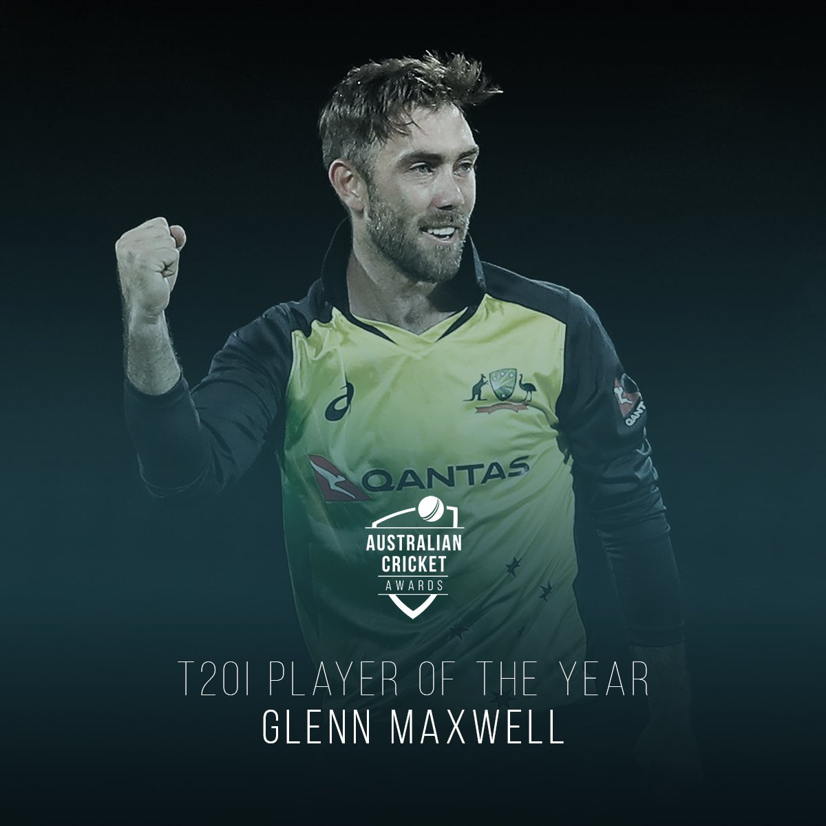 Ever the entertainer, ever the performer.   Glenn Maxwell wraps up an excellent short-form year with the T20I Player of the Year award! #AusCricketAwards <br>http://pic.twitter.com/ZiwnZJeIUe