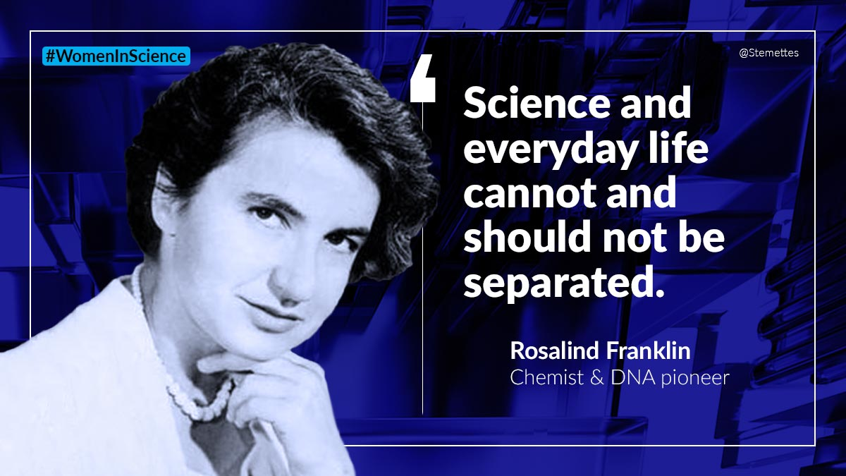 Stemettes 💙 ★ # +'s photo on Rosalind Franklin