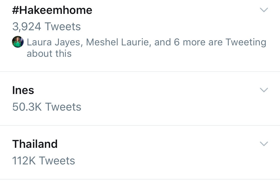 Trending in Australia right now - #Hakeemhome Thailand and Ines!
