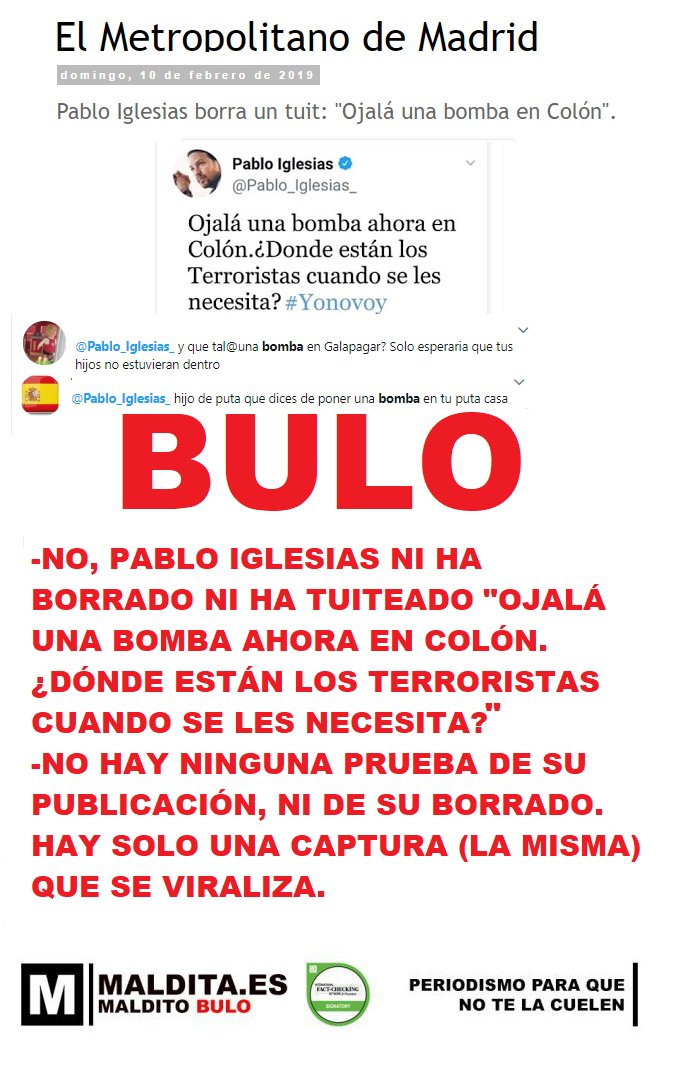 MALDITO BULO's photo on Pablo Iglesias
