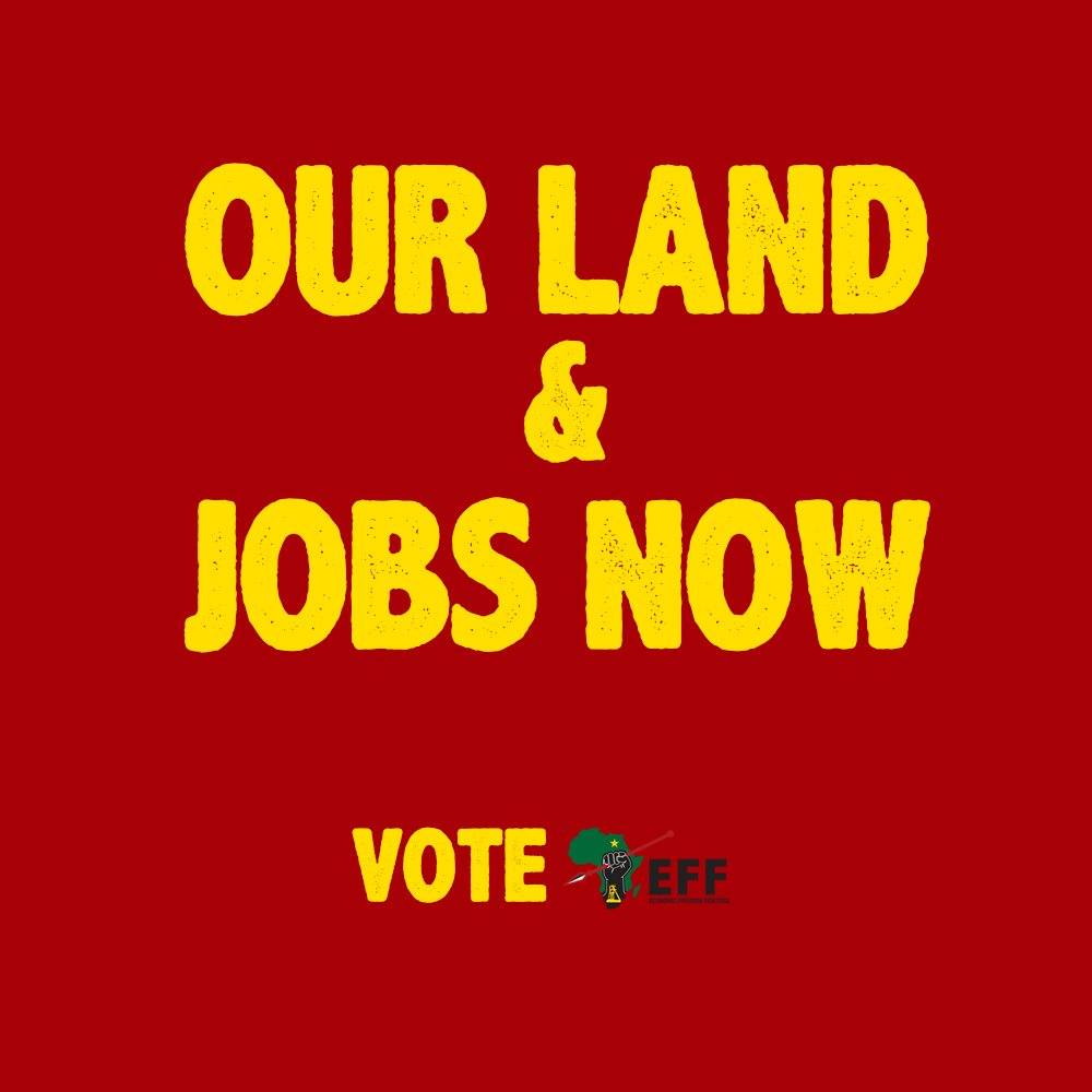 """I still reapet I wouldn't vote African National Criminals """" ANC """" even if it was lead by Jesus Christ. #Eff_for_control. #2019_we_lead.#Aluta_Continua  #more_love 💞"""