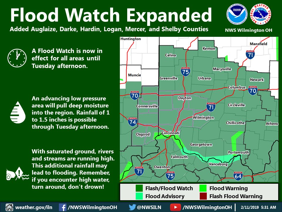 NWS Wilmington OH's photo on Flood Watch