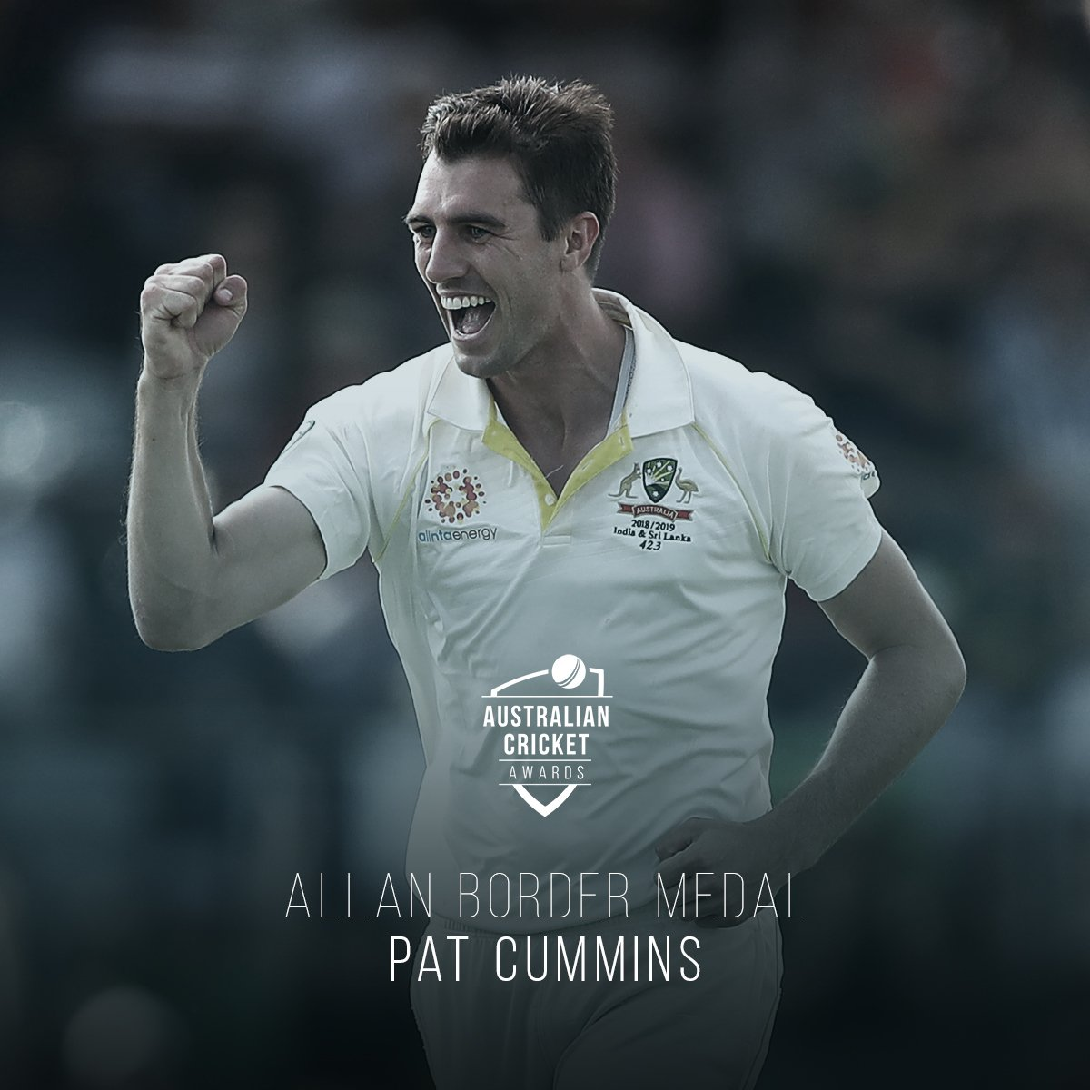 The bowlers have taken over. Pat Cummins is the Allan Border Medalist!   A complete summary HERE -  http:// cricket.com.au/news/pat-cummi     … #AusCricketAwards <br>http://pic.twitter.com/YZjCYpces7