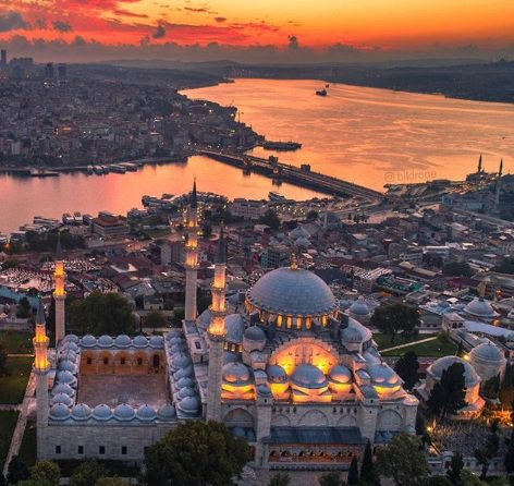 IMAGE: Istanbul and bridge over the Golden Horn.  (Credit: Instagram user - Bildrone)