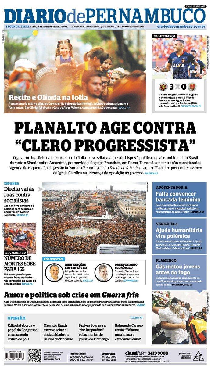 Diario de Pernambuco's photo on 11 DE FEVEREIRO