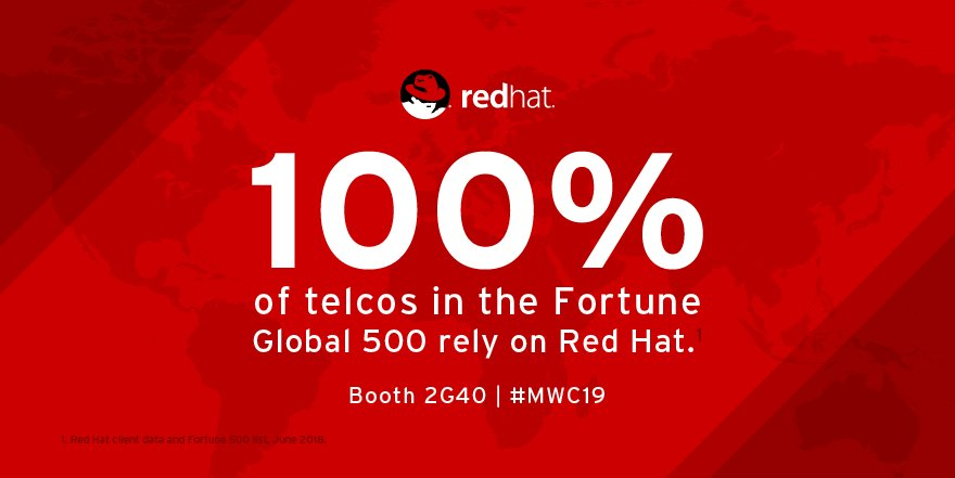 Red Hat Telco's photo on #MWC19