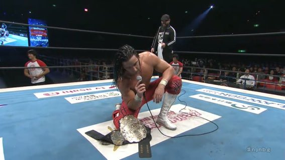 JAY WHITE IS THE NEW IWGP WORLD HEAVYWEIGHT CHAMPION!!! #NJNBG <br>http://pic.twitter.com/clxTrcL2vo