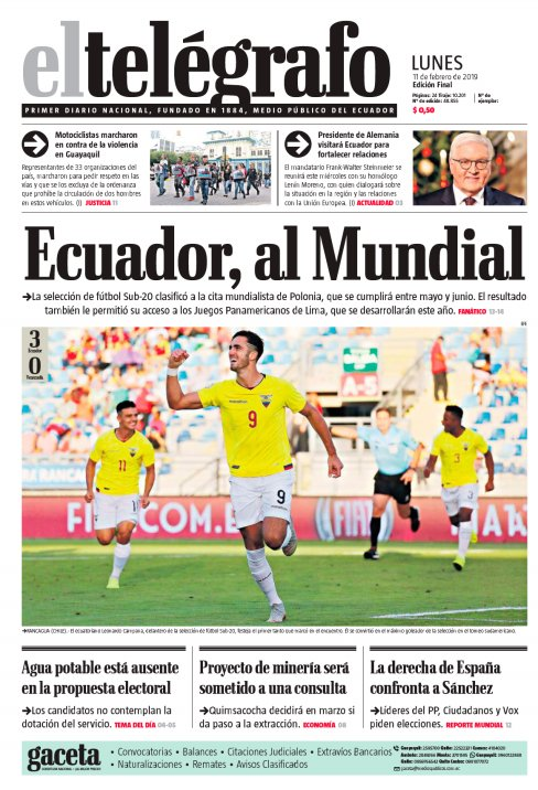 El Telégrafo Ecuador's photo on Lunes 11