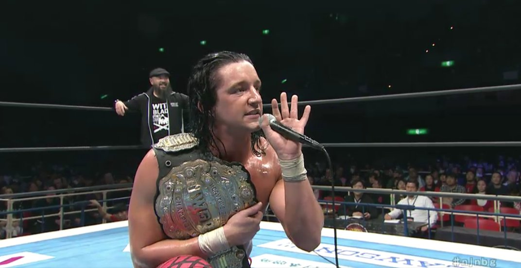 "New Japan don't piss about with their pushes. And your NEW IWGP Heavyweight Champion ""Switchblade"" Jay White! #njnbg <br>http://pic.twitter.com/RqLvW941xc"