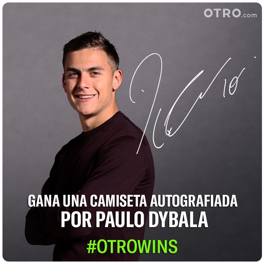 ¿Quieres ganar una camiseta 👕autografiada por mí? Dirígete a http://otro.co/dybala y descubre como participar. @OTRO #OurOtherClub #otrowins