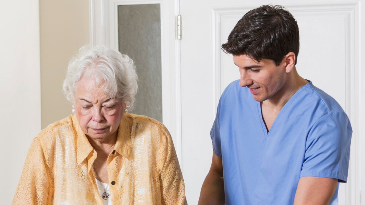 Family Unsure Why Grandmother's Caregiver Seems Like He Actually Enjoys Spending Time With Her https://trib.al/OIXA9rR