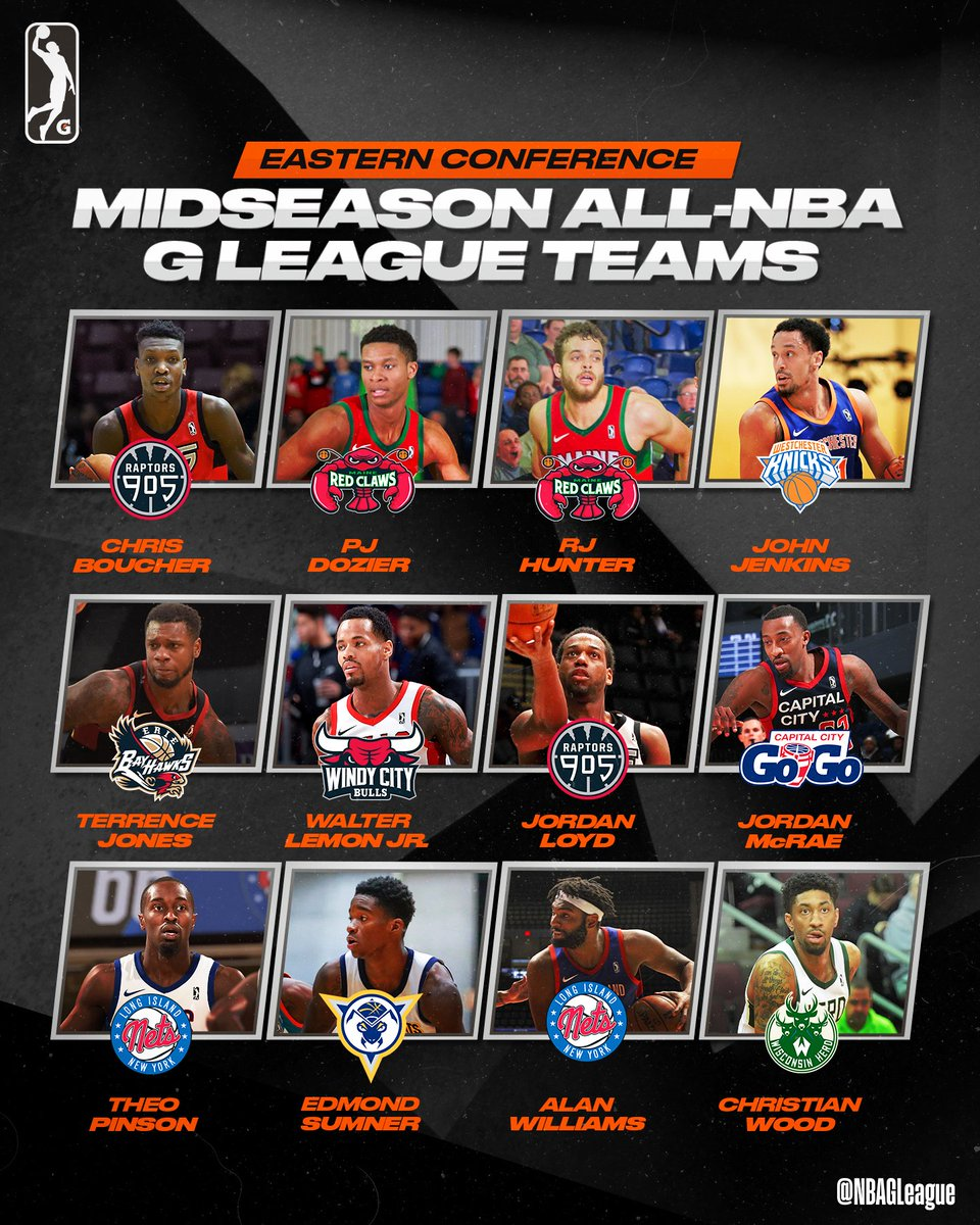 Unveiling the Midseason #AllGLeague Teams as voted by #NBAGLeague coaches, GMs & players!  Highlights, info & more: https://on.nba.com/2E3KkXH