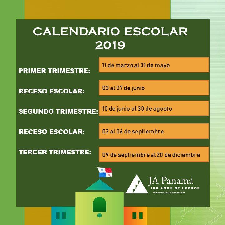 Photosi Calendario.Calendario Escolar 2019 Tweet Added By Juniorachievementpty