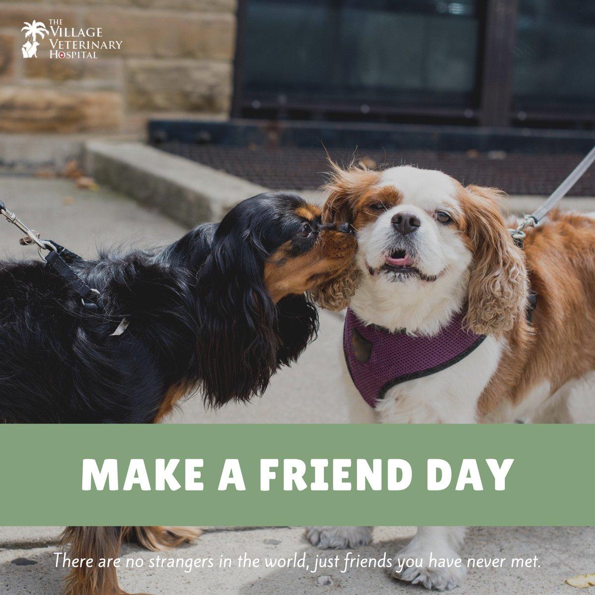 The Village Veterinary Hospital's photo on #MakeAFriendDay