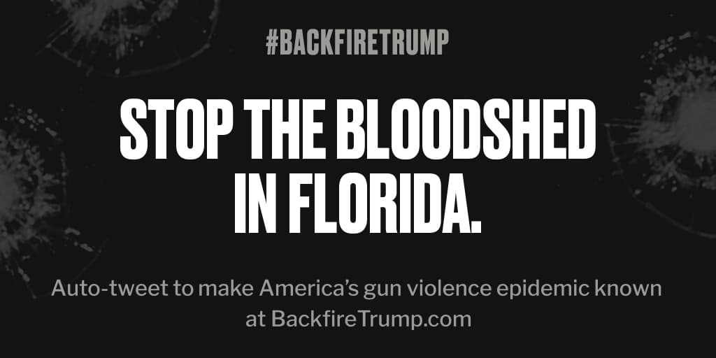Shooting in #Florida just took an American life. #POTUS, please do something. #BackfireTrump