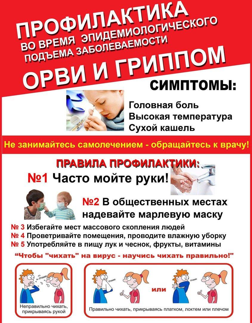 плакат профилактика гриппа и орз темно-русый другие вариации