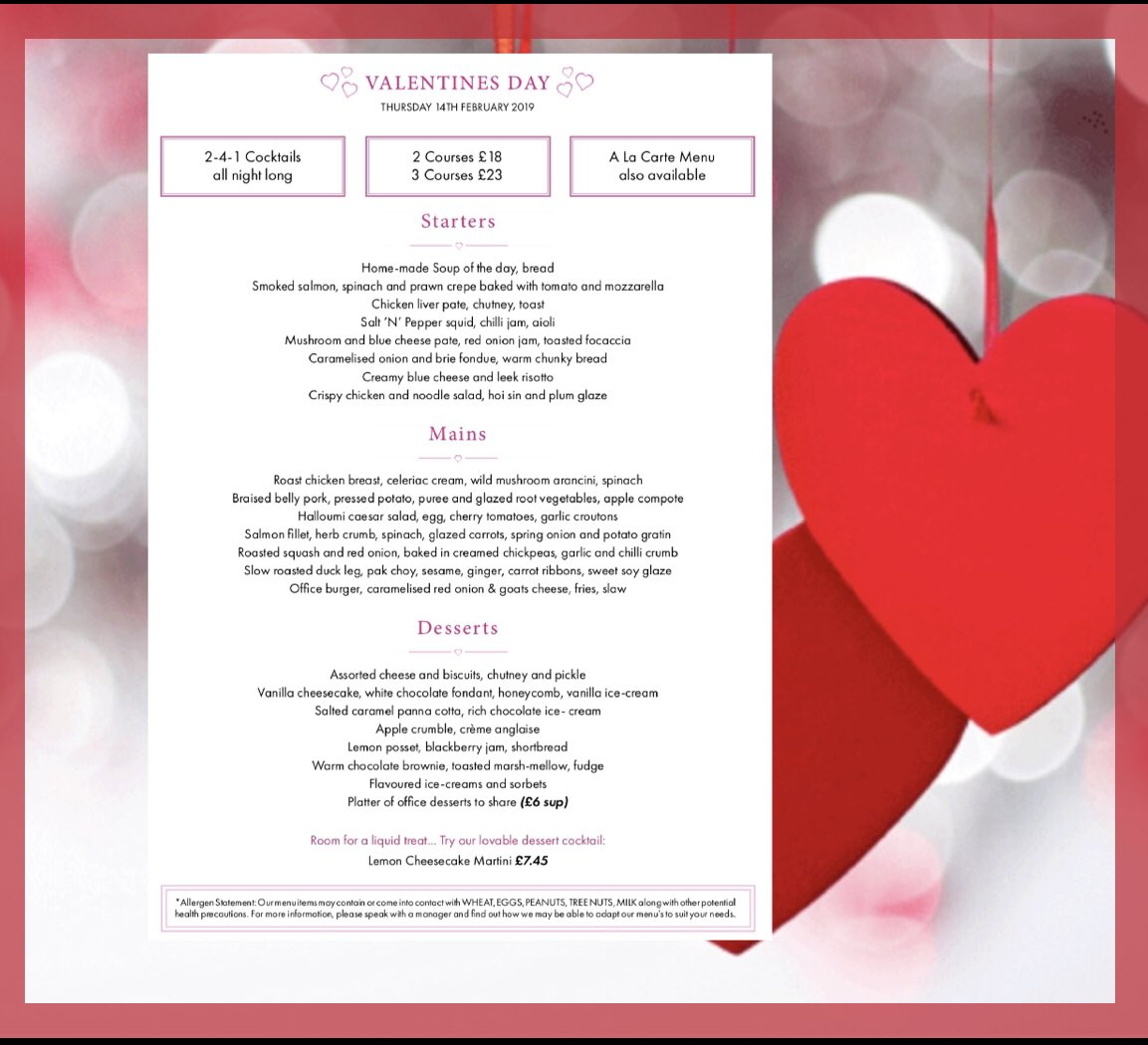 The Office Bar And Restaurant's photo on #Valentinesweek