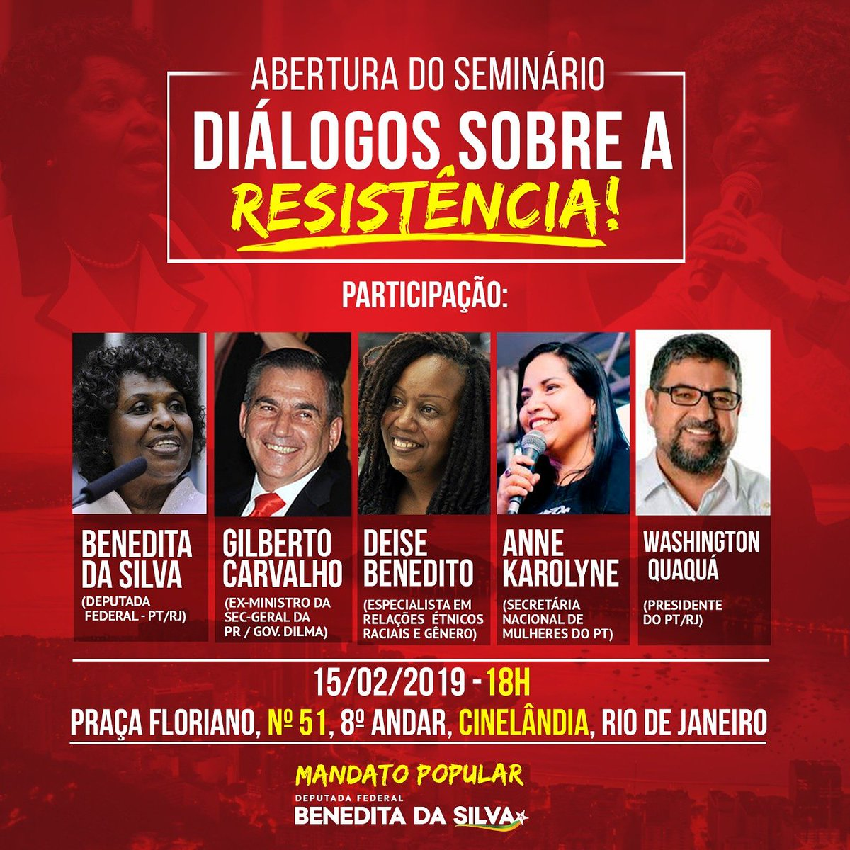 Benedita da Silva's photo on Gilberto Carvalho