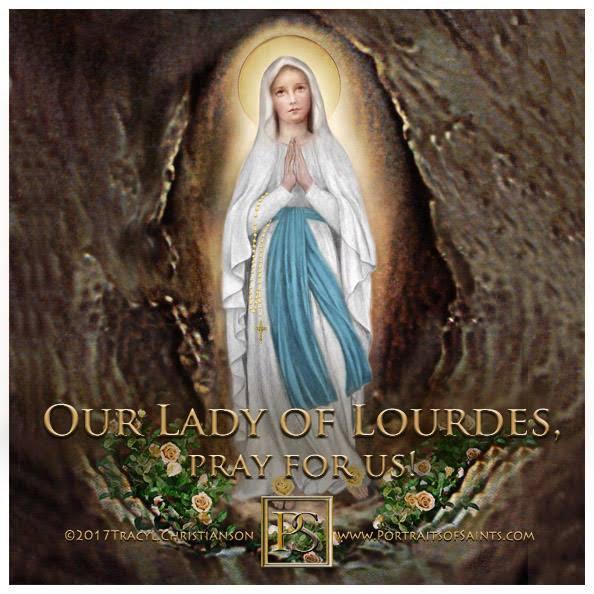 Portraits of Saints's photo on #OurLadyofLourdes