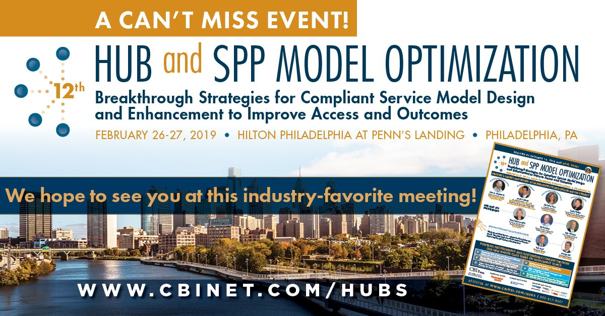 We are excited to moderate a master class at this year's HUB and SPP Model Optimization Conference. David Hileman, EVP and COO, will discuss how to extend the role of your hub beyond traditional patient access and support services. @CBI_Conferences #PatientAccess #SupportServices