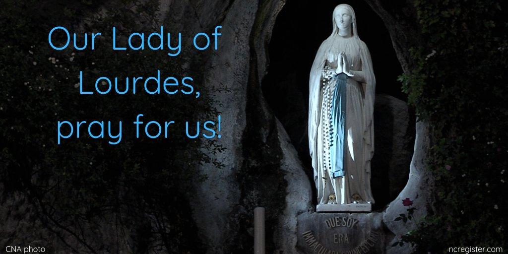 N. Catholic Register's photo on #OurLadyofLourdes