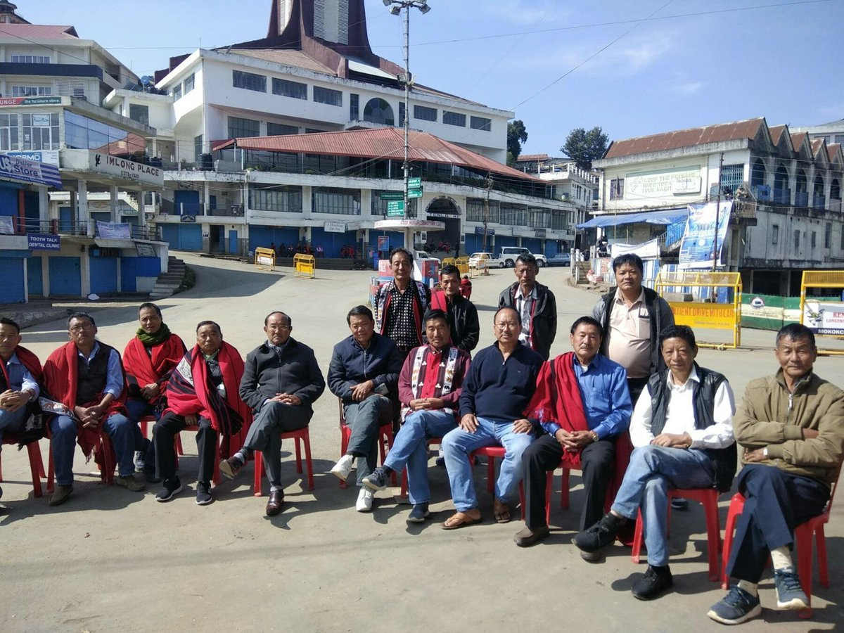 Naga People's Front #NPF Mokokchung Division joined in enforcing