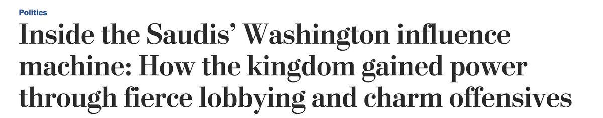 Here's the Washington Post; remember, Saudi, not Israel: 3/