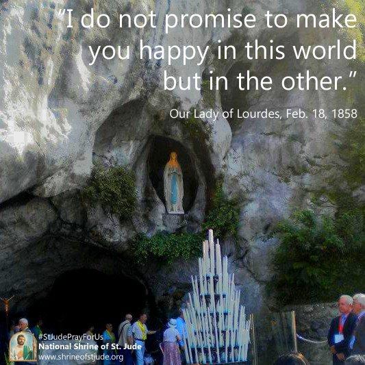 Shrine of St. Jude's photo on #OurLadyofLourdes