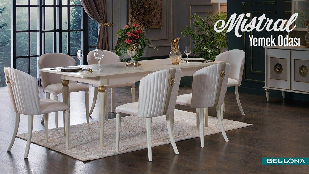 Sofranıza bir tabak daha! İhtiyaç anında genişleyebilen Mistral ile masada her zaman herkese yer vardır. http://bit.ly/MistralYemekOdası… #Bellona #HomeDecor #Decoration #Interior