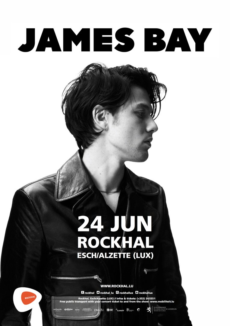 Luxembourg 🇱🇺 I'm playing Rockhal (@rockhal_lu) on the 24th of June. Tix on sale now. https://www.etix.com/ticket/p/7302257/james-bay-eschalzette-rockhal-luxembourg …