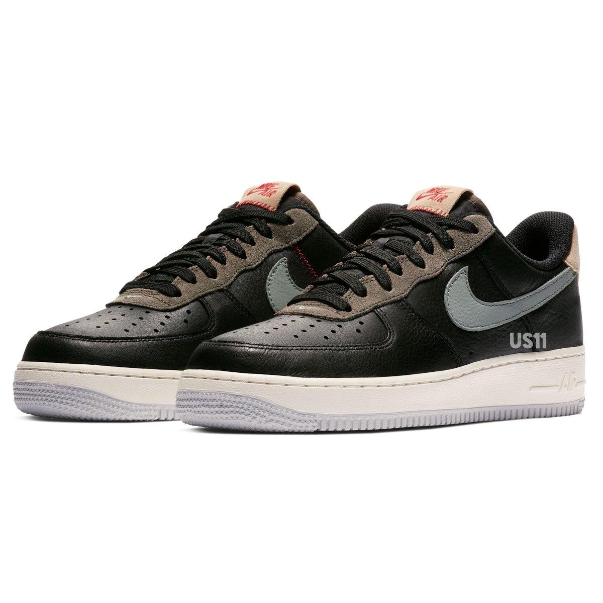 sports shoes 31e5b cba87 AIR FORCE 1  07 BLACK MICA GREEN-RIDGEROCKpic.twitter.com UnAY3Ecs3I