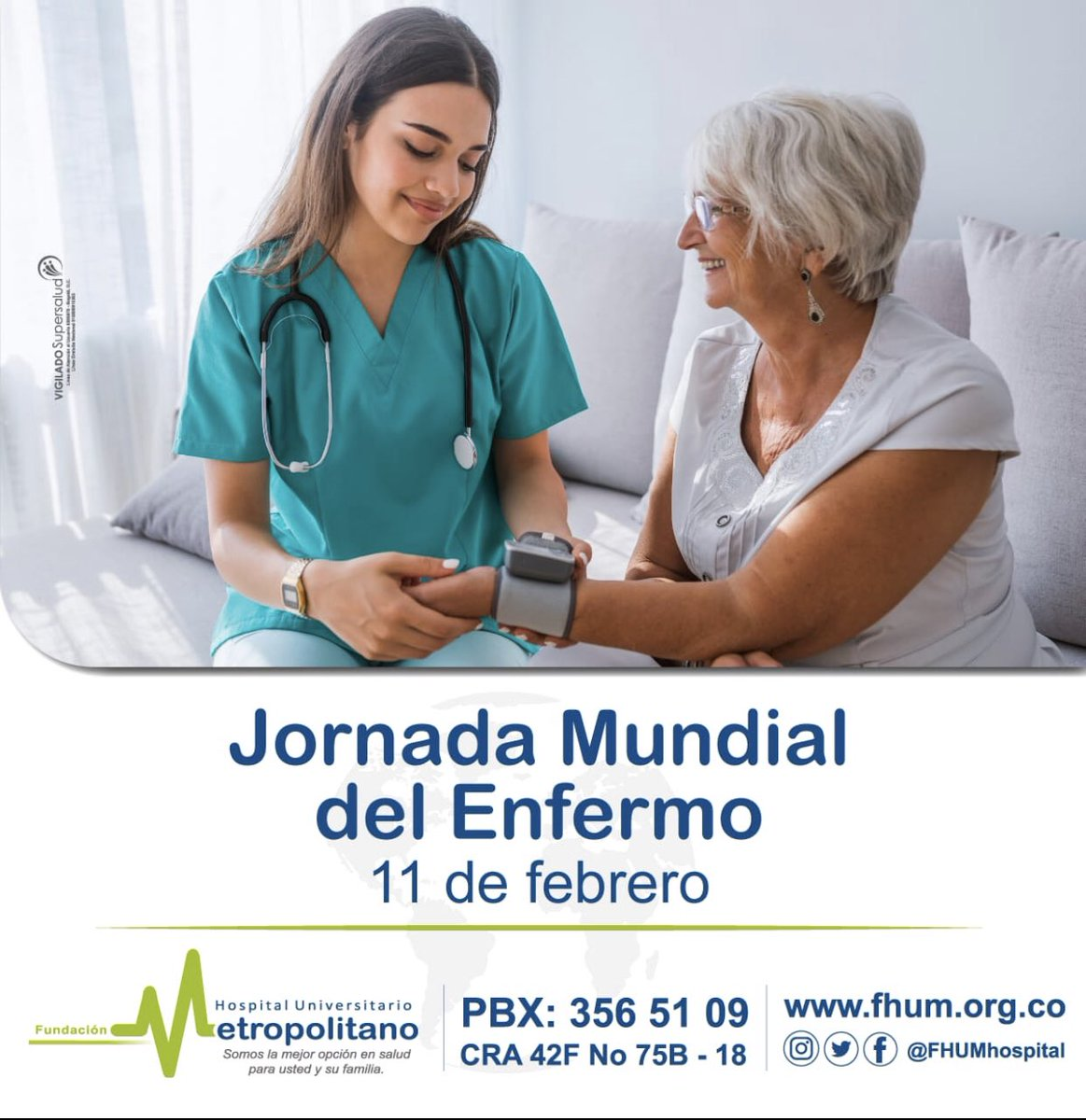 Fundación Hospital Universitario Metropolitano's photo on #JornadaMundialDelEnfermo