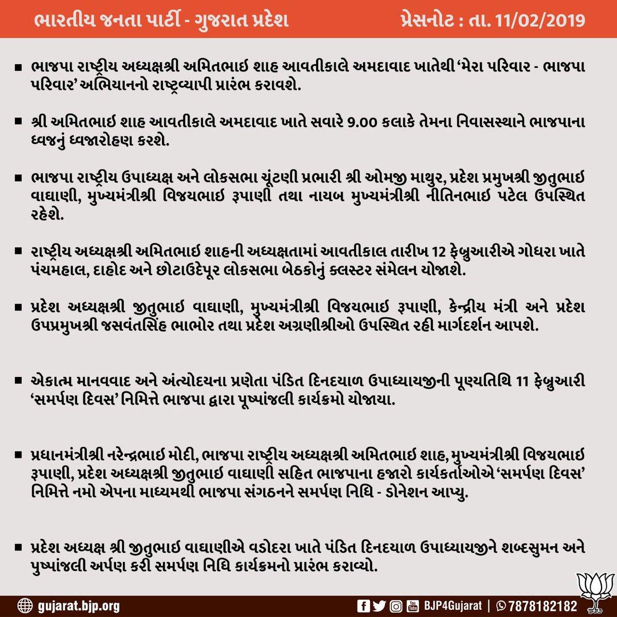 BJP Gujarat's photo on #MeraParivarBhajapaParivar